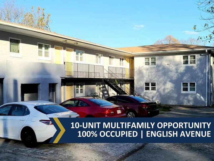 10-Unit Multifamily Opportunity | 100% Occupied | English Avenue