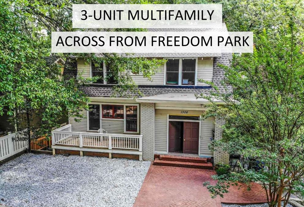 3-Unit Multifamily Opportunity | Prime Location Across Freedom Park