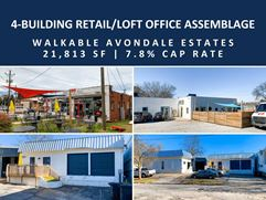 4-Building Retail/Loft Office Assemblage | Walkable Avondale Estates | 21,813 SF - Avondale Estates